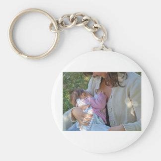 Woman breastfeeding keychains