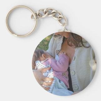 Woman breastfeeding key chains