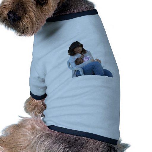 Woman breastfeeding pet tshirt