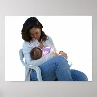 Woman breastfeeding poster