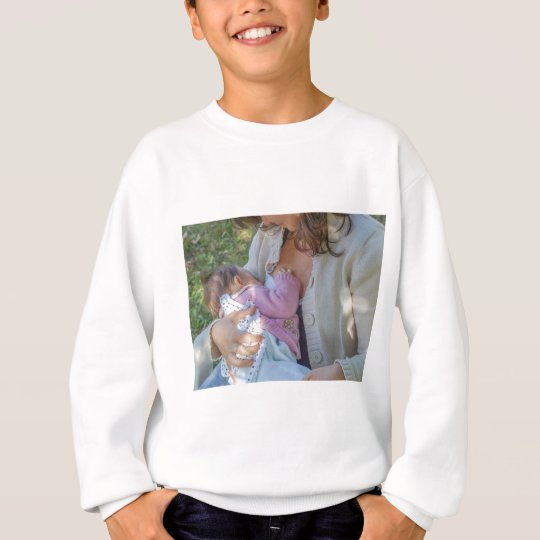 Woman breastfeeding sweatshirt