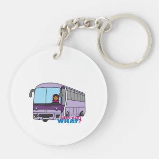Woman Bus Driver Keychain