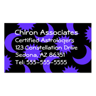 Woman Business Card in Purple and Black