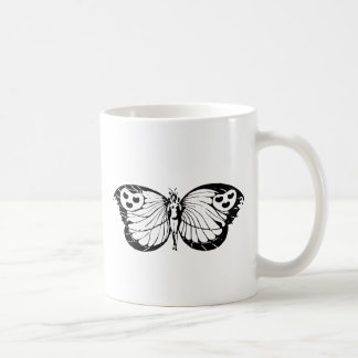 Woman Butterfly Classic White Coffee Mug