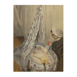 Woman by a Fence 1866 Wood Wall Art