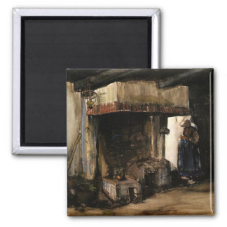 Woman by a Hearth by Vincent van Gogh Magnet