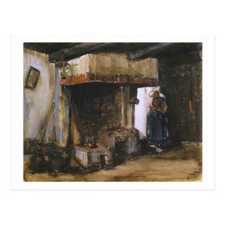Woman by a Hearth (F1222) Van Gogh Fine Art Postcard