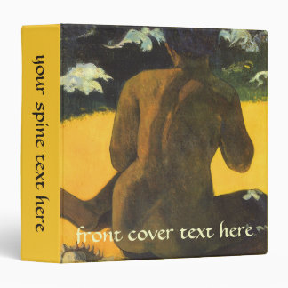Woman by the Sea by Paul Gauguin, Vintage Fine Art 3 Ring Binder
