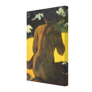 Woman by the Sea by Paul Gauguin, Vintage Fine Art Canvas Print