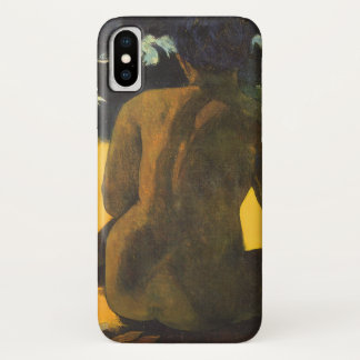 Woman by the Sea by Paul Gauguin, Vintage Fine Art iPhone X Case