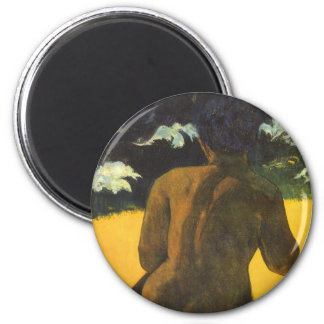 Woman by the Sea by Paul Gauguin, Vintage Fine Art Magnet