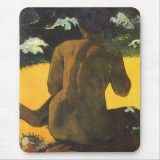 Woman by the Sea by Paul Gauguin, Vintage Fine Art Mouse Pad
