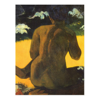 Woman by the Sea, Gauguin, Vintage Impressionism Postcards