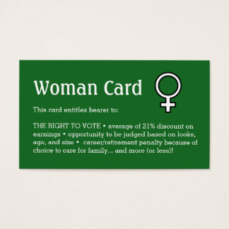 """Woman Card, Business, 3.5"""" x 2.0"""", 100 pack Business Card"""