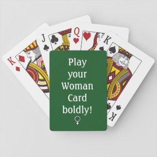 Woman Card, Playing Cards, Standard Faces Poker Deck