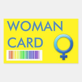 Woman Card Sticker