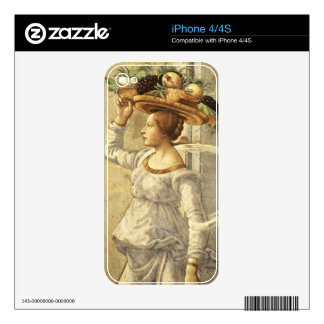 Woman carrying Fruit, from the Birth of St. John t Decal For iPhone 4