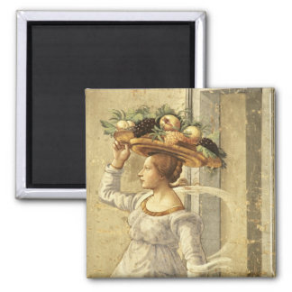 Woman carrying Fruit, from the Birth of St. John t Refrigerator Magnet