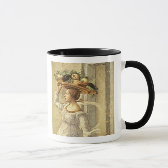 Woman carrying Fruit, from the Birth of St. John t Mug