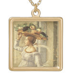 Woman carrying Fruit, from the Birth of St. John t Jewelry