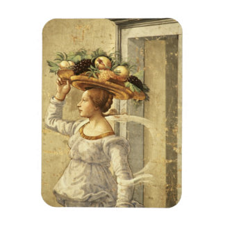 Woman carrying Fruit, from the Birth of St. John t Vinyl Magnet