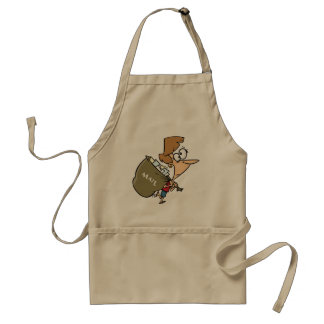 Woman Carrying Mailbag Apron
