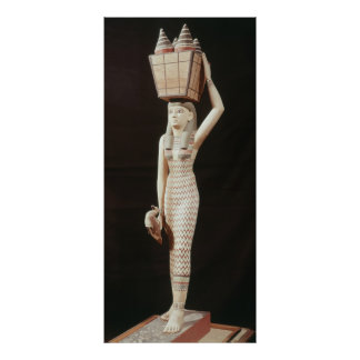 Woman carrying offerings, New Kingdom Poster