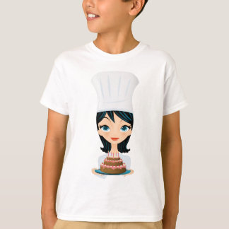 Woman chef Birthday cake T-Shirt