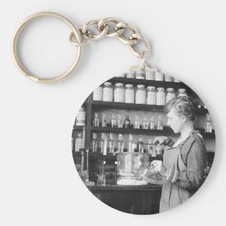 Woman Chemist, 1919 Keychain