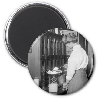 Woman Chemist, early 1900s 2 Inch Round Magnet
