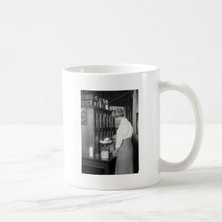 Woman Chemist, early 1900s Classic White Coffee Mug
