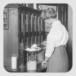 Woman Chemist, early 1900s Square Sticker
