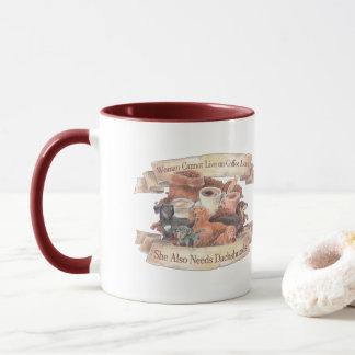 Woman , coffee, and dachshunds mug