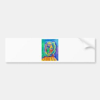 Woman Color 2 Bumper Sticker