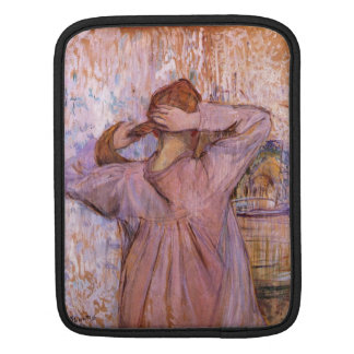 Woman Combing her hair by Toulouse-Lautrec iPad Sleeves