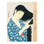 Woman Combing Her Hair Hashiguchi Goyo Postcards