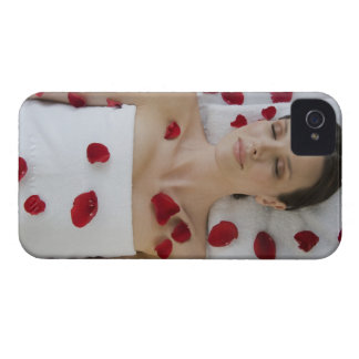 Woman covered in flower petals laying on massage Case-Mate iPhone 4 case