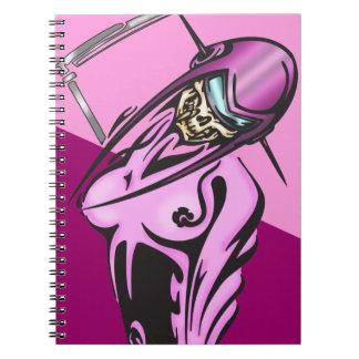 Woman Cyborg Skull Warrior Notebook