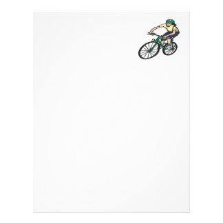Woman Cycling Letterhead Design