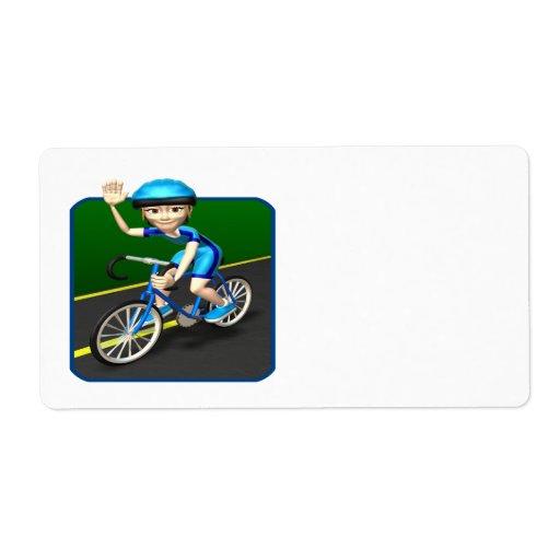 Woman Cyclist 3 Labels