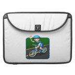 Woman Cyclist 3 MacBook Pro Sleeve