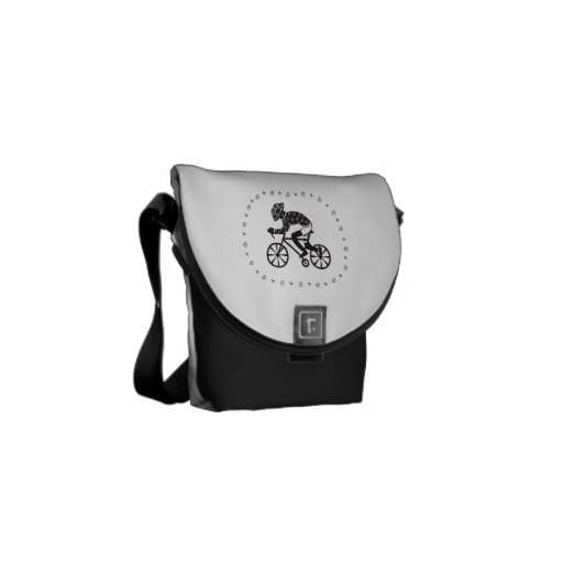 Woman Cyclist Courier Bag