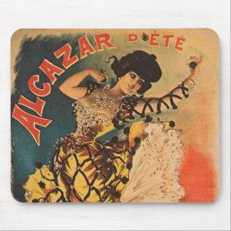 Woman Dancer Alcazar La Belle Otero Art Nouveau Mouse Pad