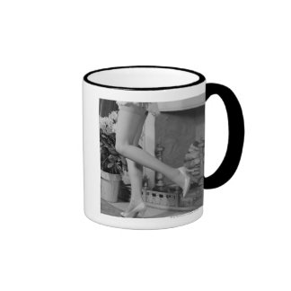 Woman Dancing Coffee Mugs