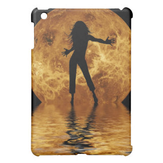 woman dancing in front of moon iPad mini cover