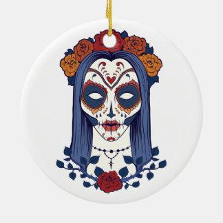 Woman Day of the Dead Ceramic Ornament