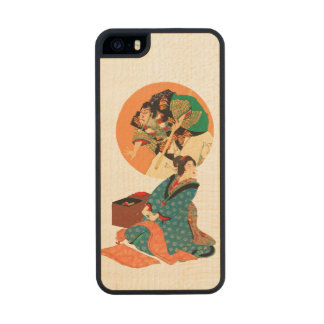 Woman Daydreaming Carved® Maple iPhone 5 Case