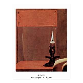 Woman Detail: Candle By Georges De La Tour Postcard