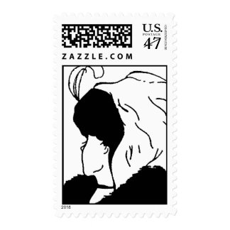 woman, Do you See A young woman or an old hag? Postage Stamp