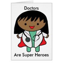 Woman Doctor Black Super Hero Personalize